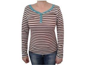 Alpine Pro AMOISA 4991000 pruhované dámské tričko