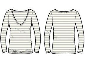 Alpine Pro DORTHEN 70049000 dámská bílá pruhovaná trička