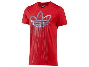 Pánská trička Adidas červená s potiskem F80928