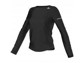 Funkční tričko adidas SQ CC RUN LS TEE  Dámské funkční tričko - černé