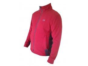 Klimatex pánská mikina fleece - červená