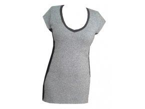 Dámské úpletové šaty DRAPS 722 šedé