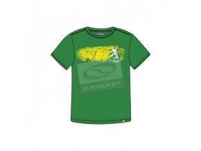 Pánská trička s potiskem Loap GENE CCM1232 zelená