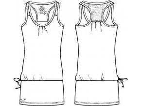Alpine Pro CORAIL 8378000 Dámské šaty - bílé