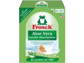 Prací prášky z Německa Frosch Aloe Vera Sensitiv, 18 pracích dávek