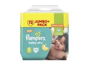 Pampers, Baby Dry, 5 Junior, 11 25 kg, dětské pleny, 72 ks