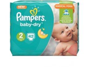 Pampers, Baby-Dry 2 Mini, dětské plenky, 3-6 kg, 42 ks