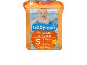 babylove, dětské koupací plenky S, 4-9kg, 12 ks
