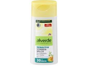 alverde PŘÍRODNÍ KOSMETIKA, Sluneční mléko Sensitiv LSF 30, 200 ml