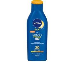 NIVEA SUN Mléko na opalování OF 20 Schutz & Pflege 250 ml
