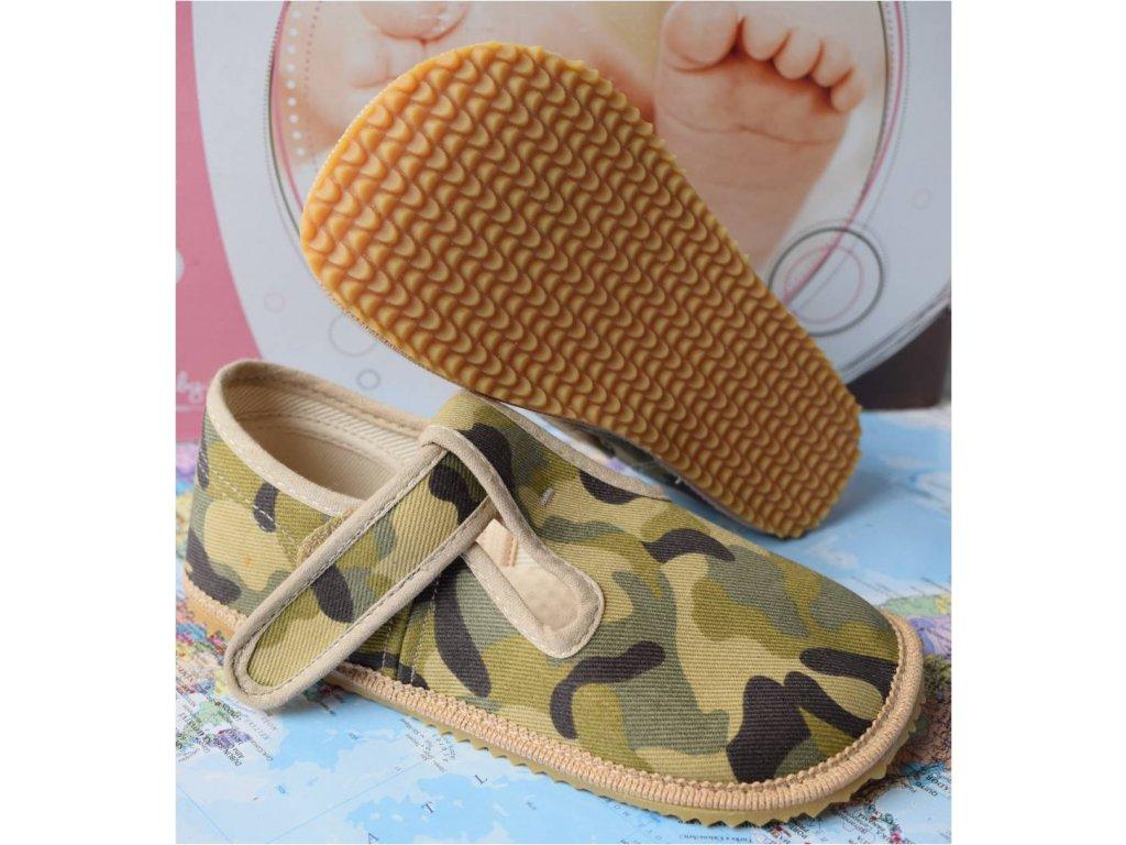 Barefoot přezůvky Beda-vojenská army - klasik