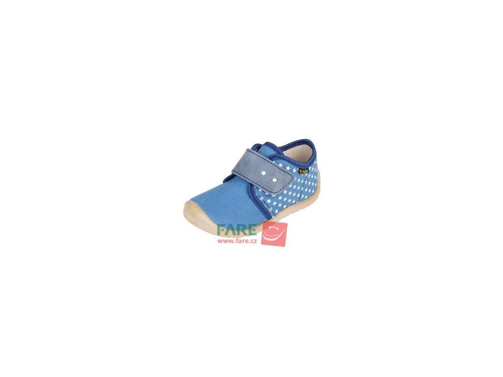 Fare bare plátěné tenisky modré (5011402)