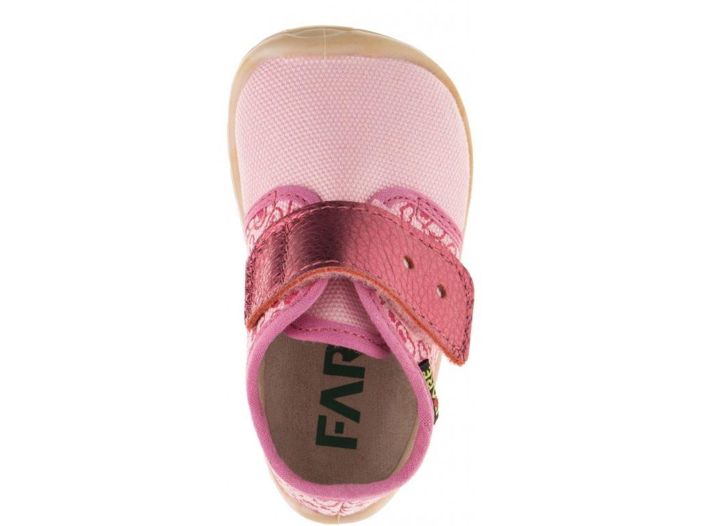 Fare bare plátěné tenisky růžové (5011452)