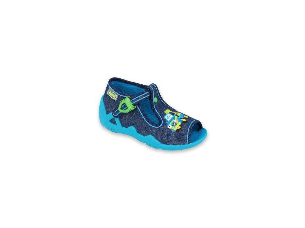 31545 1 217p107 18 chlapecke sandalky befado modre auto