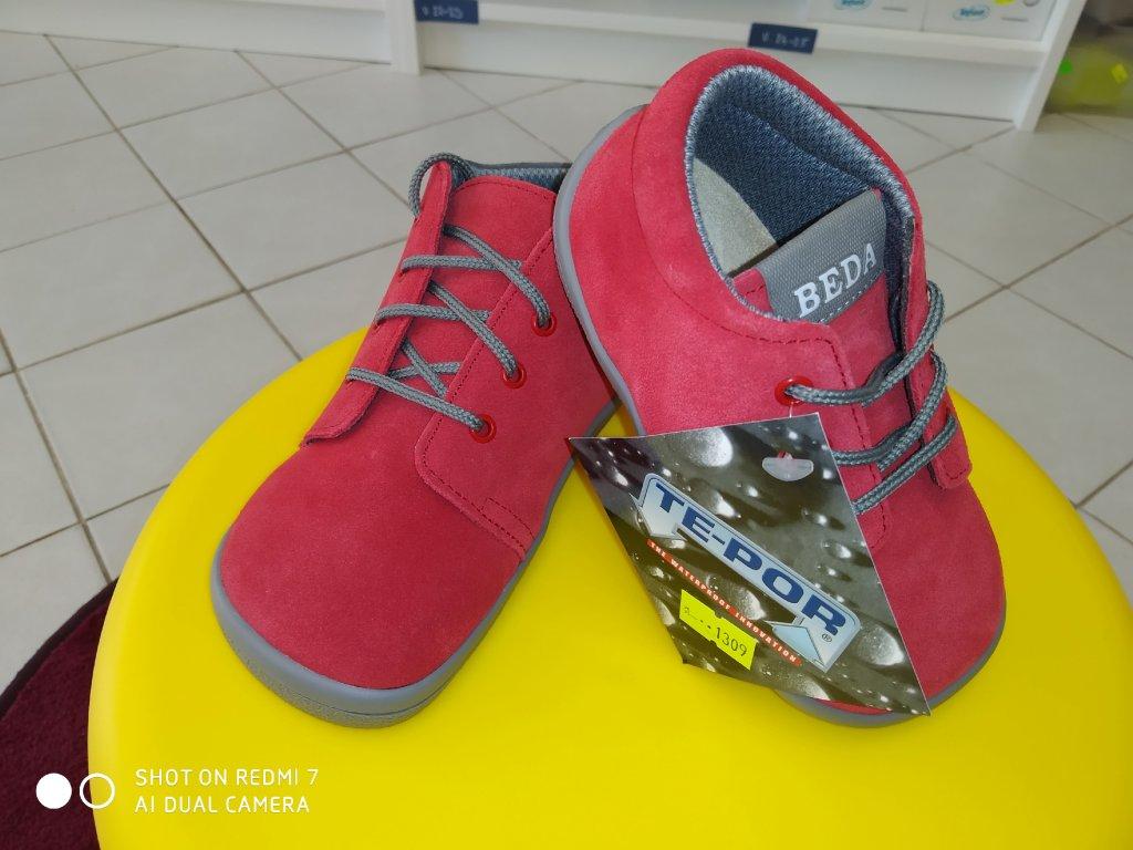 Barefoot Beda ELIS - Tkaničky - červená