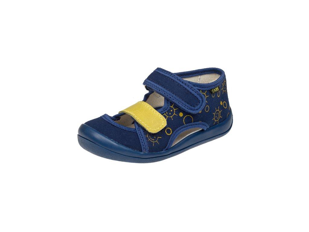 Fare textilní sandálky modré (4418401)