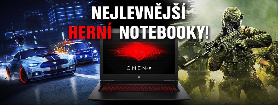 Nejlevnější herní notebooky