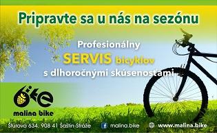 Servis bicykla na predajni v Šaštíne