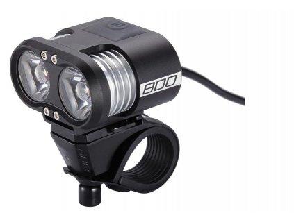 Výkonné predné LED svetlo 800 Lumen externý akumulátor BBB BLS-67 SCOPE 800