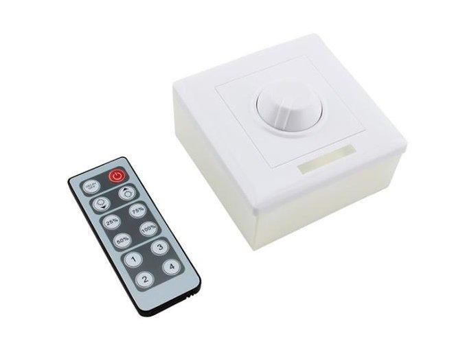 Dálkový stmívač pro LED pásky 12V a 24V, 8A, IR DO + manuální ovládání  DO IR STM-MAN