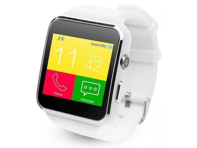 Chytré, bluetooth hodinky na sim v češtině - novinka - Bílá