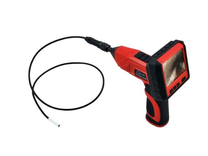 Kamera na flexi hadici s LCD monitorem a s kabelem o průměru jen 5,8mm
