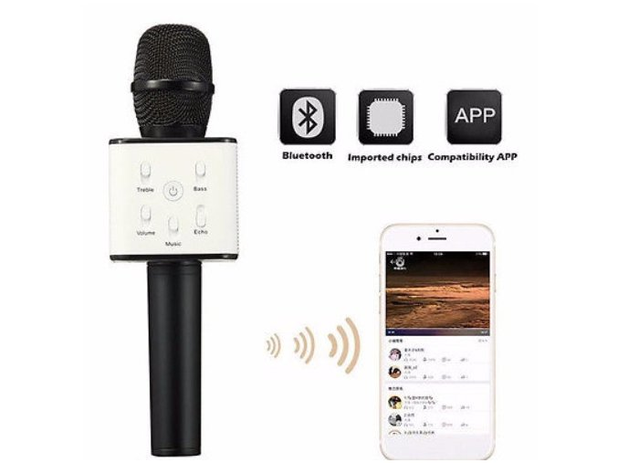 NICE KTV Q7 Wireless Karaoke Handheld Microphone Player Bluetooth 1