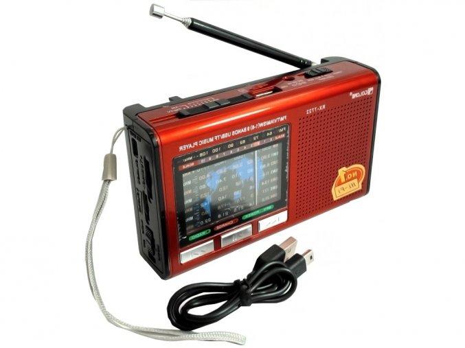 Stylové přenosné nabíjecí rádio s USB a microSD