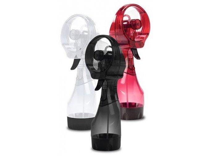 Přenosný větráček / ventilátor s rozprašovačem  - Červená