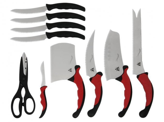 Sada nožů 10Ks s magnetickou lištou
