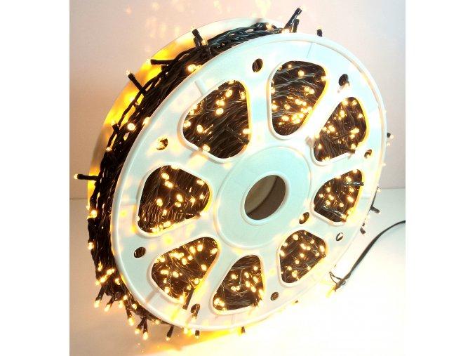 Vánoční osvětlení, světelný řetěz 100m venkovní - Bílá teplá
