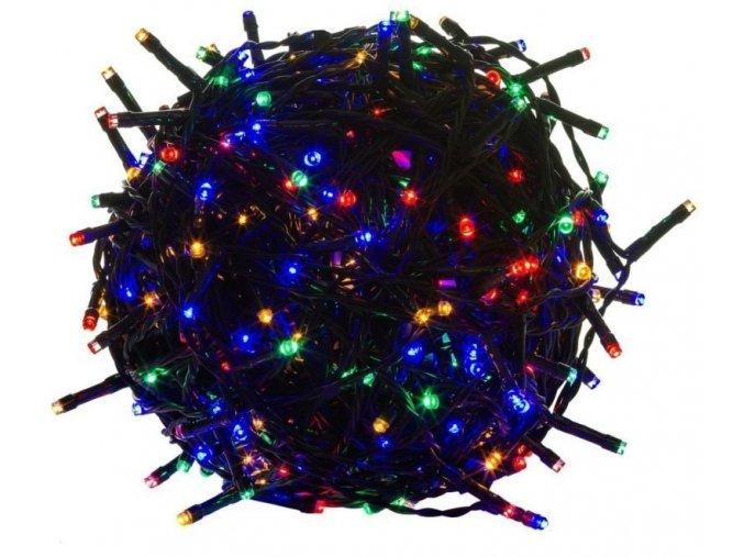 Venkovní vánoční osvětlení, světelný řetěz 10m 100LED - Barevné