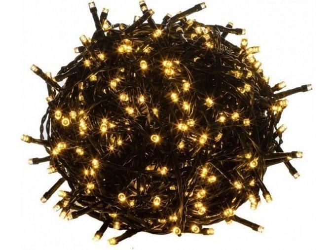 Venkovní vánoční osvětlení, světelný řetěz 50m 500LED - Bílá Teplá