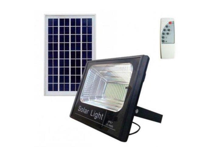 Venkovní LED reflektor 60W se solárním panelem a dálkovým ovladačem  LED FLOOD 60W SOLAR