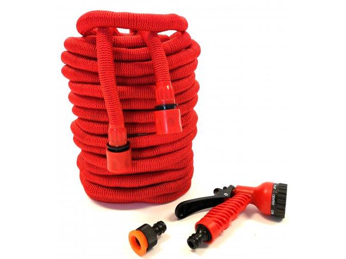 7011 smrstovaci zahradni hadice s profi plastem 30 m cervena