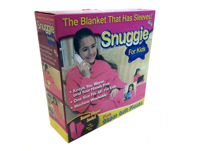7467 1 deka s rukavy snuggie pro deti ruzova