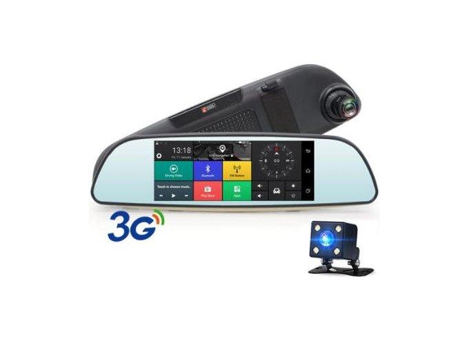 8363 dualni 3g kamera do auta v zrcatku v200 velky 7 palcovy dotykovy displej wifi gps