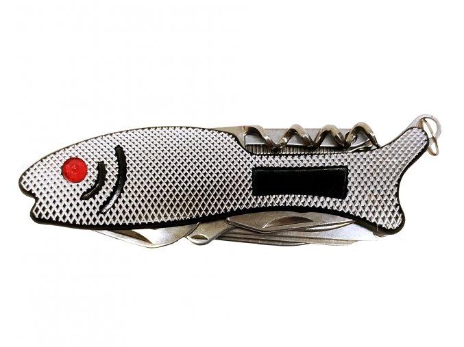 8672 multifukcni skladaci kapesni nozik ve tvaru rybky 10 cm