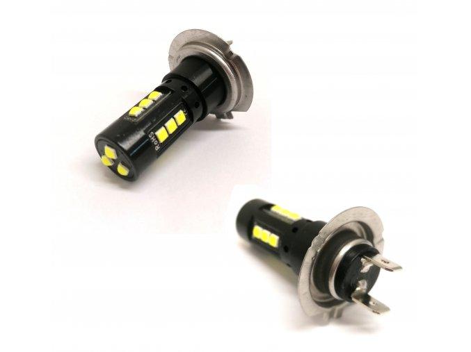 9581 2 set 2 led autozarovek h7 auto hd napajeni 12v svetelny tok 800lm led h7 double pack