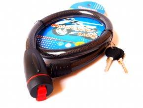 Lankový bezpečnostní zámek 800 X 15 mm (2ks klíčů)