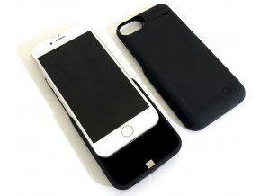 Perfektní nabíjecí pouzdro / kryt na iPhone 6, 7 - Černá