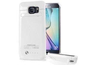 Perfektní nabíjecí pouzdro / kryt na Samsung S6 / S6 edge - Bílá