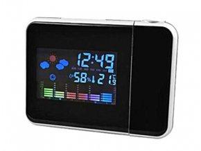 Projekční hodiny s budíkem a meteostanicí PB 17