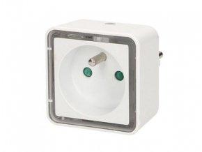 Světelná zásuvka s nočním LED bezpečnostním světlem