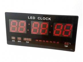 Velkoplošné, nástěnné, digitální hodiny, datum a teploměr (45,5cm x 22cm)