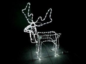 Vánoční dekorace svítící a pohyblivý sob 100 cm 250 LED - Bílá
