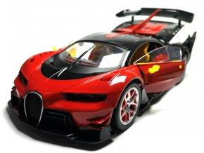 Nabíjecí auto na dálkové ovládání RC Bugatti 28 cm - Červená