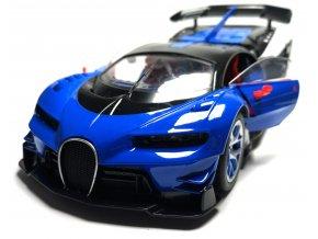 Nabíjecí auto na dálkové ovládání RC Bugatti 28 cm - Modrá