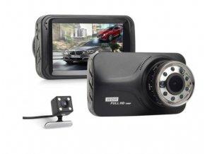 Malá a praktická duální kamera do auta s kovovým rámečkem, kvalitním obrazem s automatickým režimem LURECOM CAR CAM T639