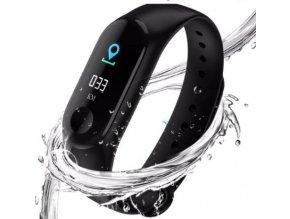 Bluetooth fitness náramek s měřením každodenní aktivity - Černá